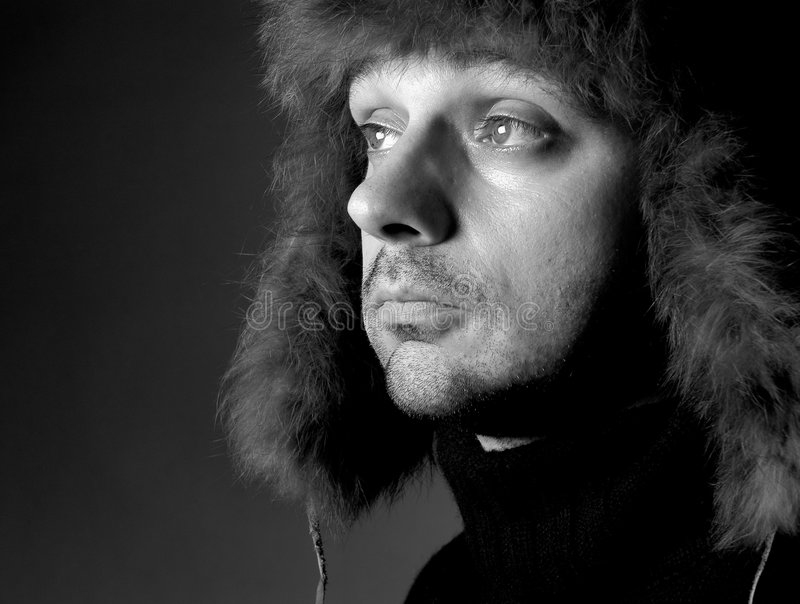 Download Man with hat II stock image. Image of pelt, unshaven, face - 171489