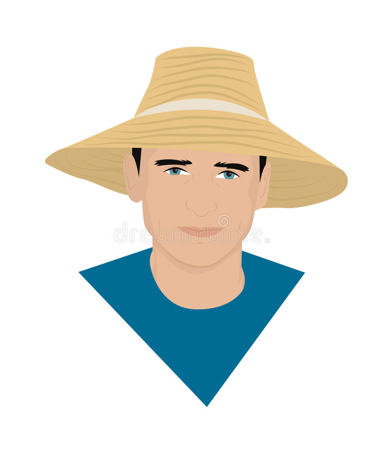 The man in the hat vector illustration