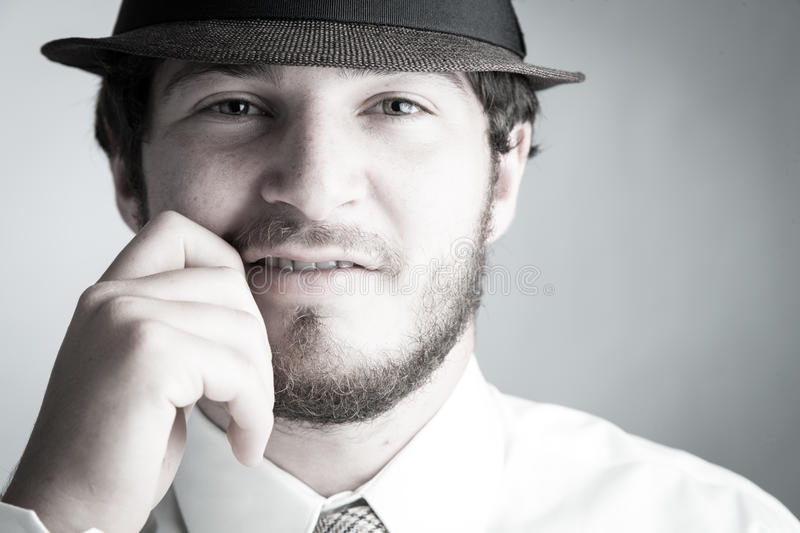 Download Man In Hat And Tie Stock Image - Image: 26338751