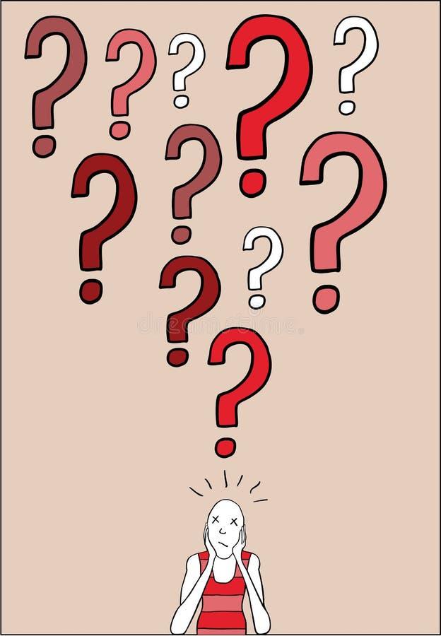 Man having doubts vector illustration