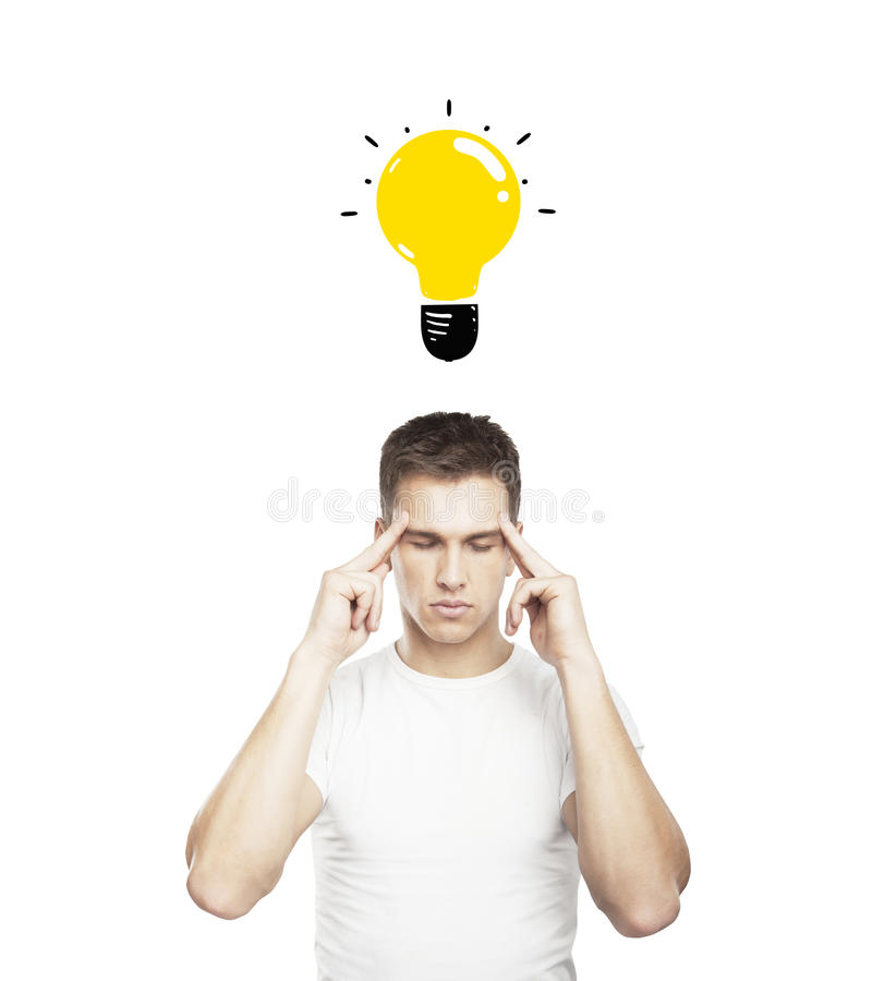 Man having idea stock photos