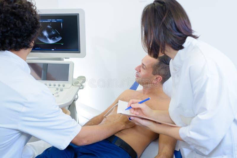 Man having ultrasound heart royalty free stock image