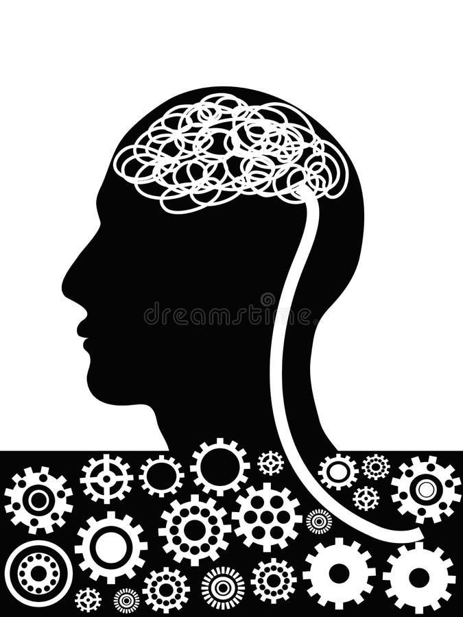 Man head factory vector illustration