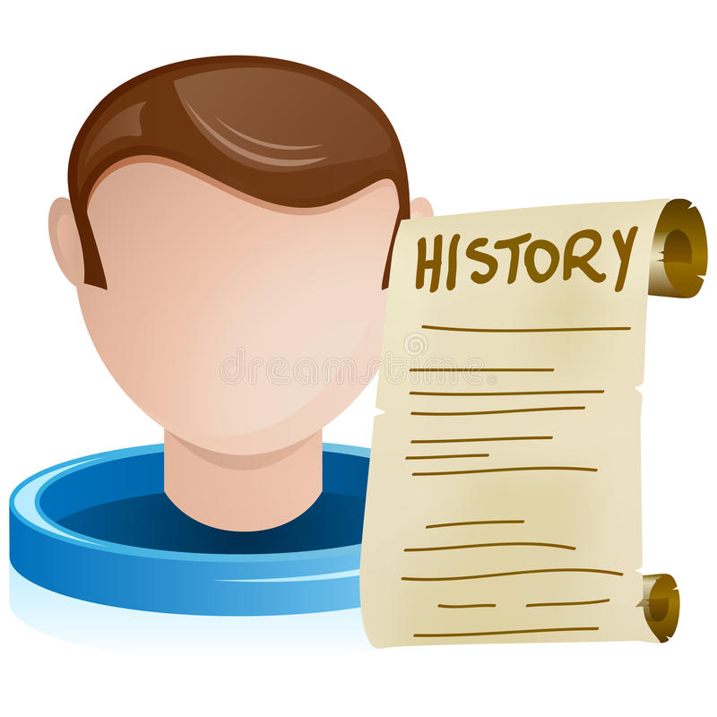 Download Man Head With History Old Paper Stock Vector - Image: 20846695