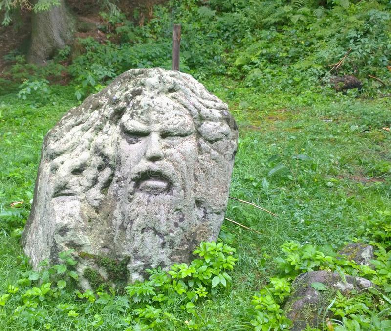 Download Man head made of stone stock image. Image of europe, head - 99776293