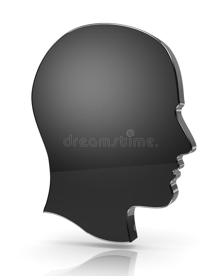 Man Head Profile stock illustration