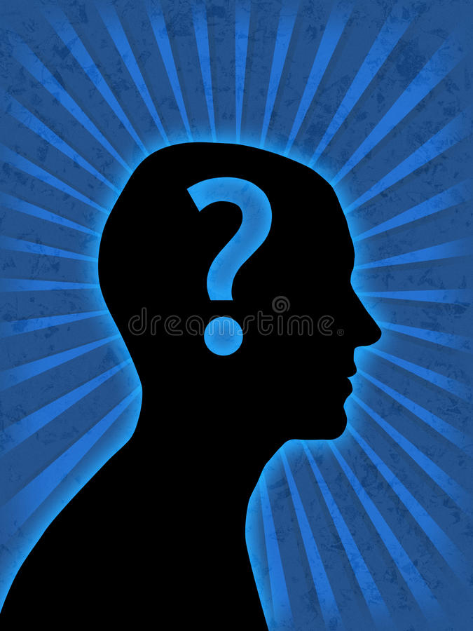 Man head silhouette royalty free illustration