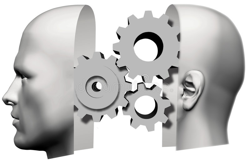 Download Man Head Thinking Idea Gears Face Stock Illustration - Image: 4318867