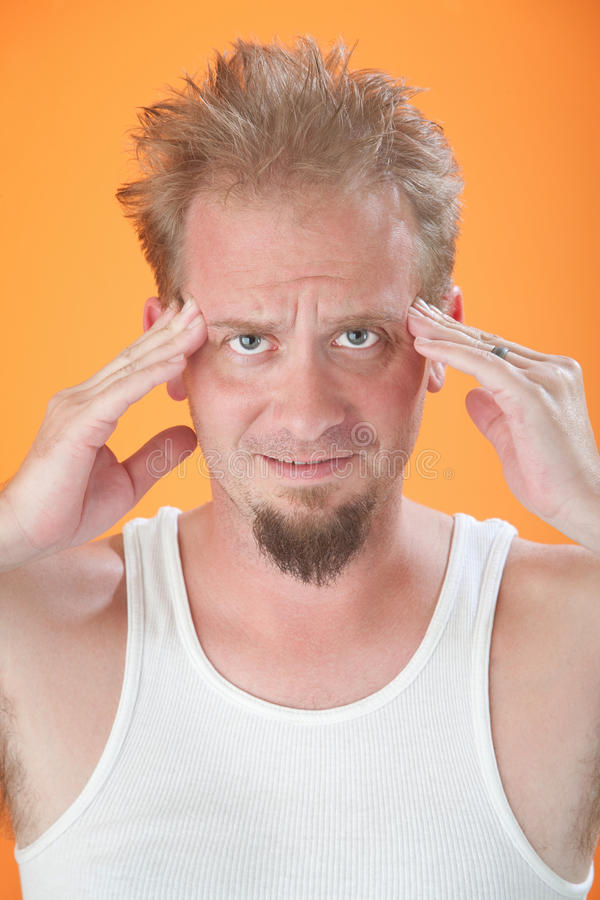Download Man With Headache stock photo. Image of headache, male - 18486820