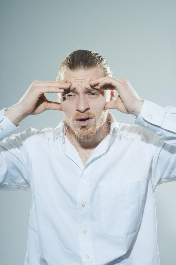 Download Man with headache stock photo. Image of adult, leadership - 39500888