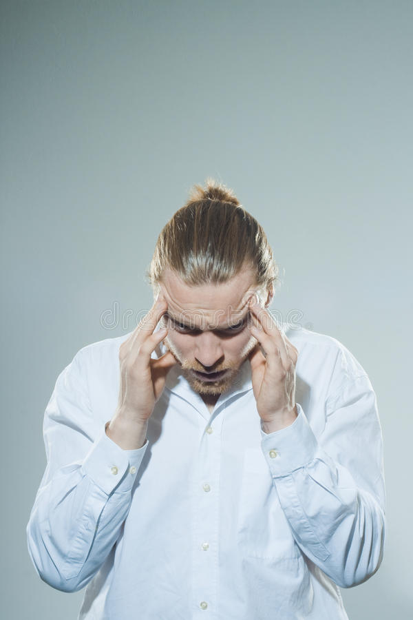 Download Man with headache stock image. Image of indecision, arrow - 39500889