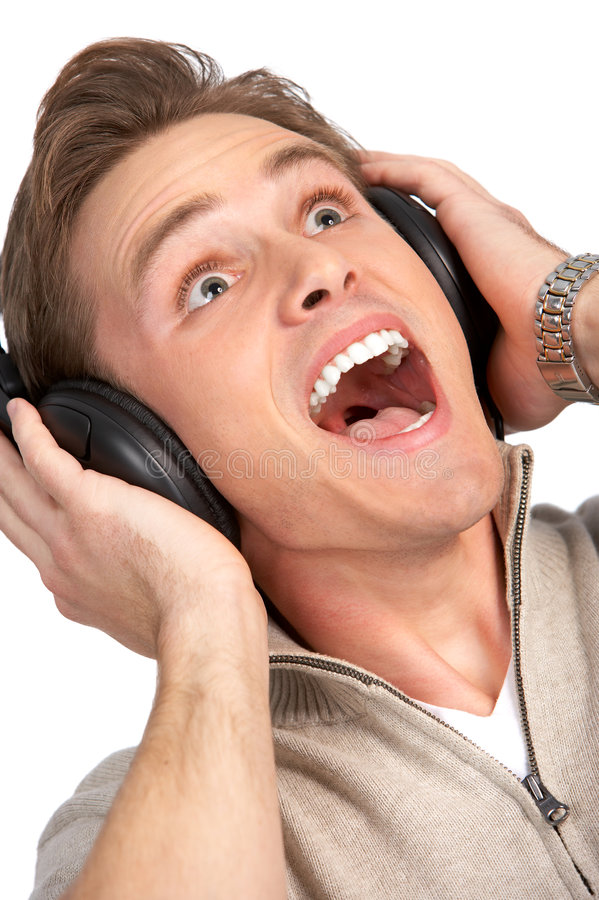 Download Man with headset stock photo. Image of isolated, headset - 7650256