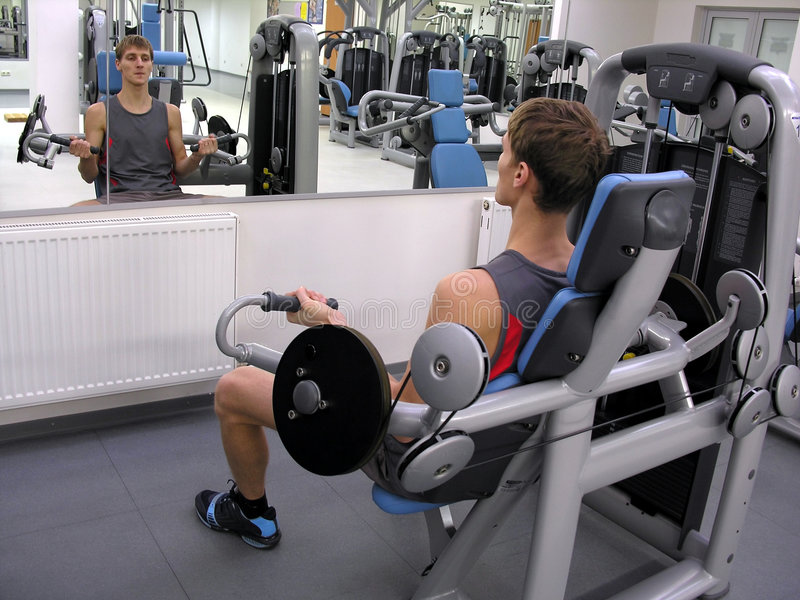 Man in health club royalty free stock images