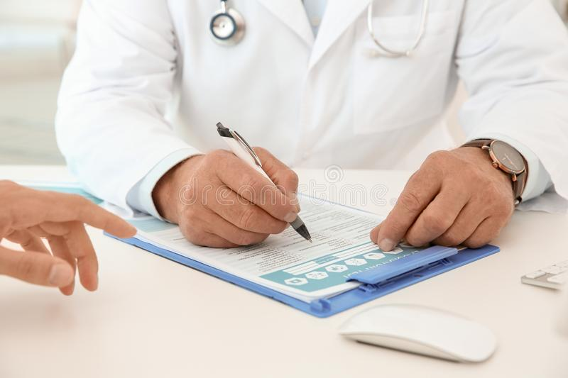 Man with health problems visiting urologist stock photos