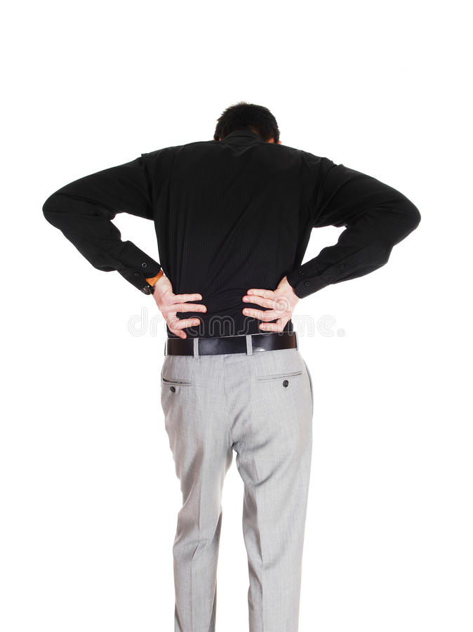 Download Man with heavy back pain. stock image. Image of out, stress - 39506029