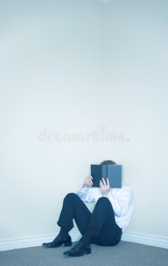 Download Man Hiding Behind A Book stock image. Image of alone, concept - 2383895