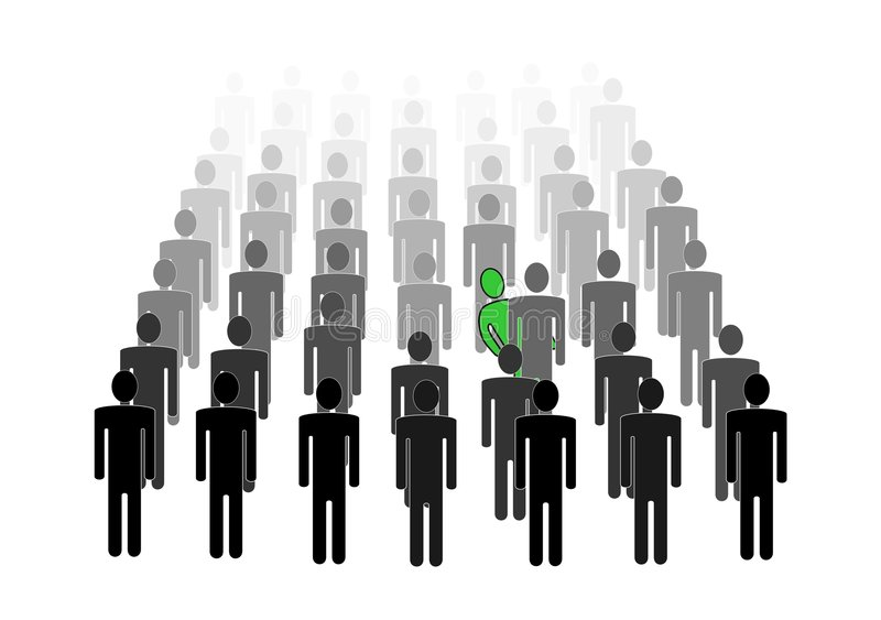 Download Man Hiding In Crowd Royalty Free Stock Photo - Image: 2512815