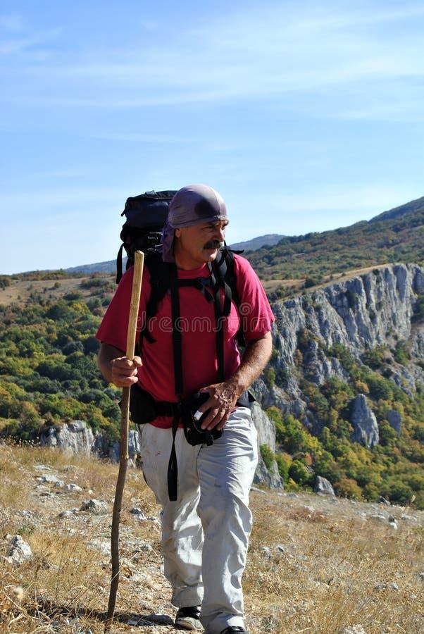 Free Man Hiking Stock Images - 21540154