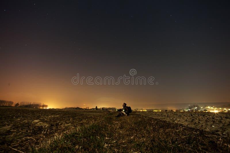 Man On Hillside Over City Free Public Domain Cc0 Image