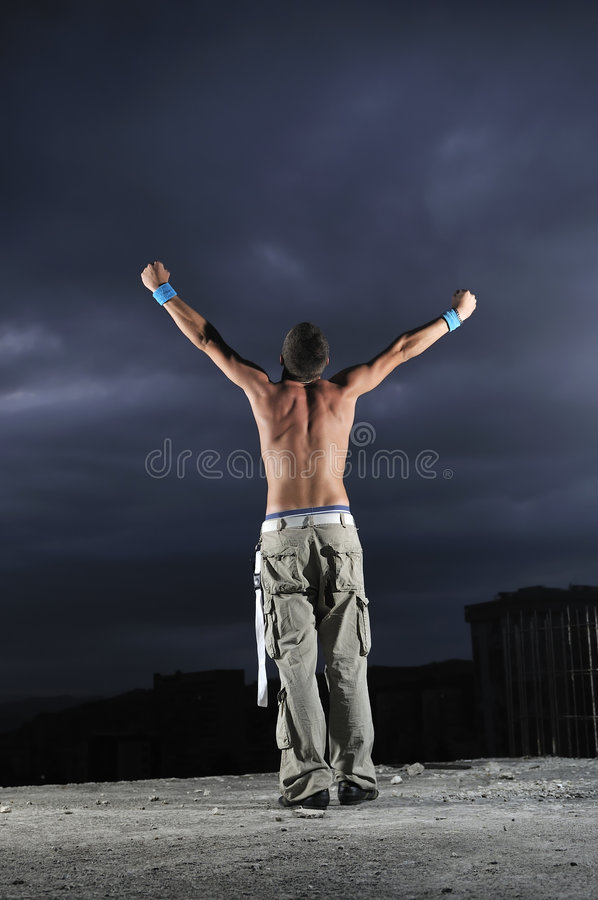 Download Man With His Arms Wide Open Royalty Free Stock Image - Image: 6482966