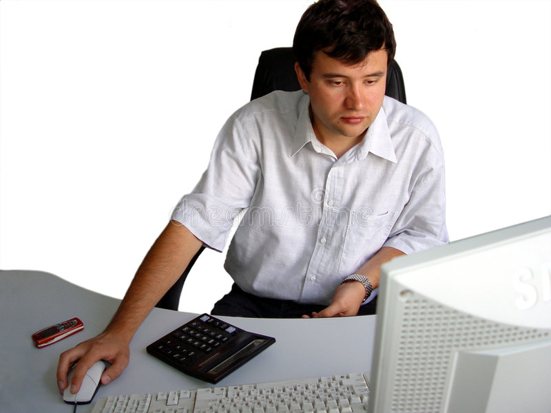 Man in his office stock photo