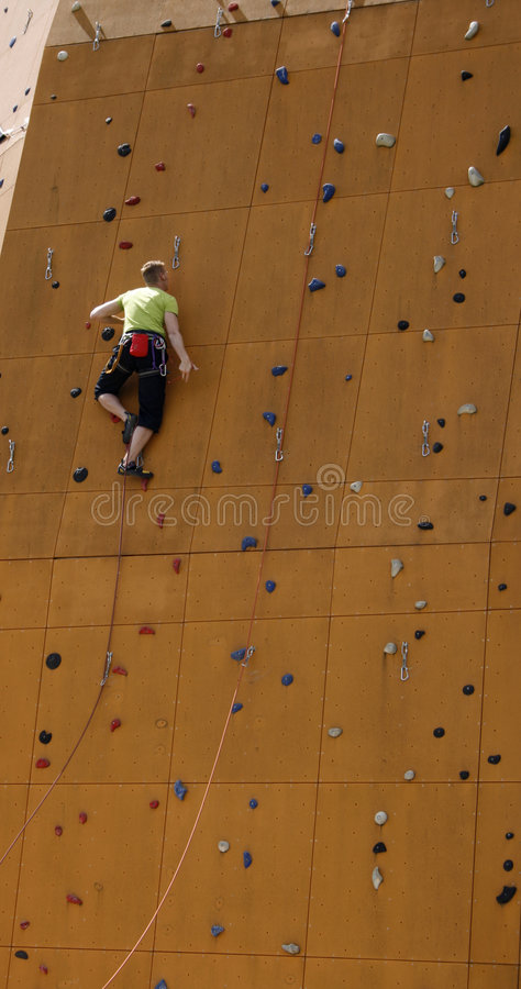 Download Man on his way to top stock image. Image of hobbies, mountain - 2741211