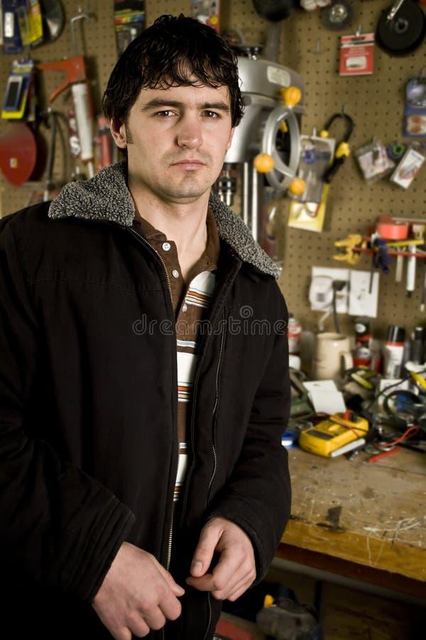 Download Man in his workshop stock image. Image of portrait, indoors - 7893081