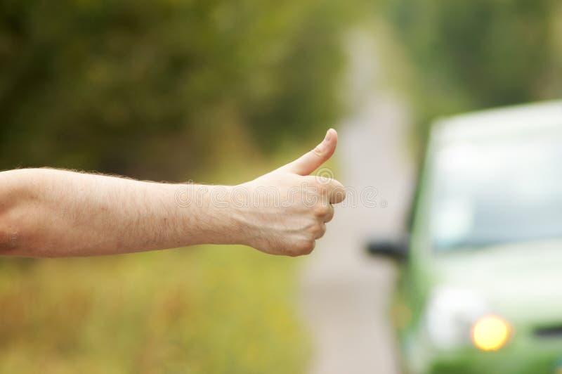 Man hitching car stock photos