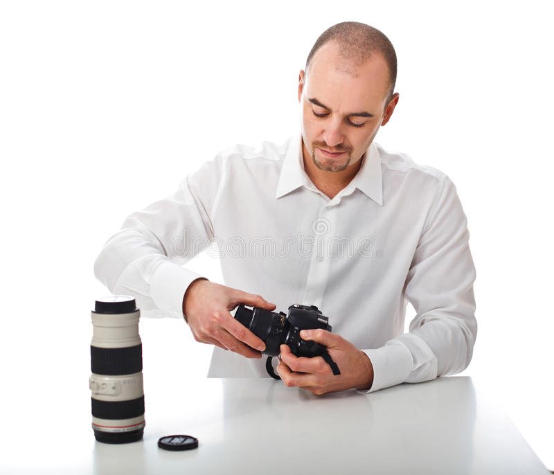 Download Man and hobby stock image. Image of lens, white, caucasian - 16817673