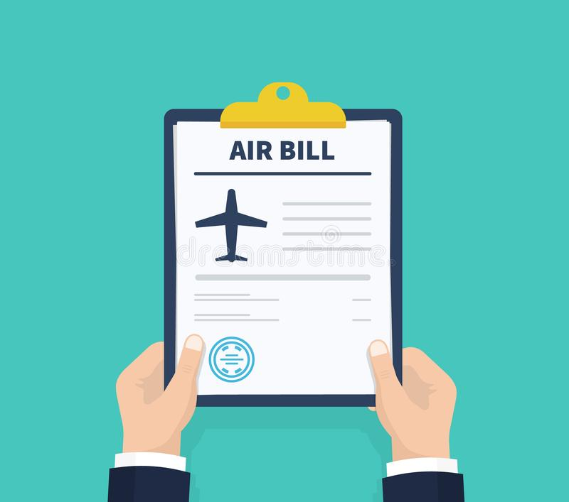 invoice flat icon payment and bill invoice order symbol