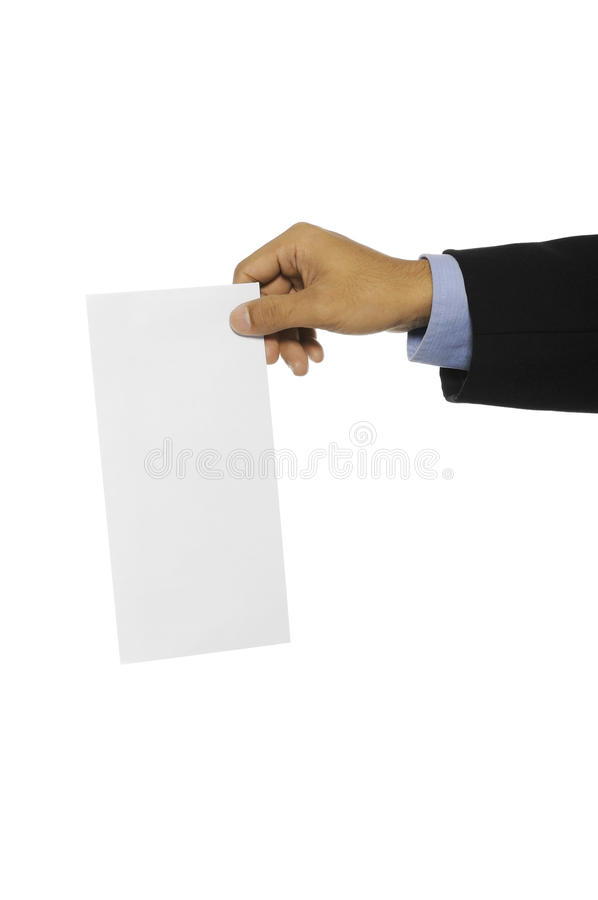 Download Man Hold Blank Envelope stock image. Image of isolation - 28326059