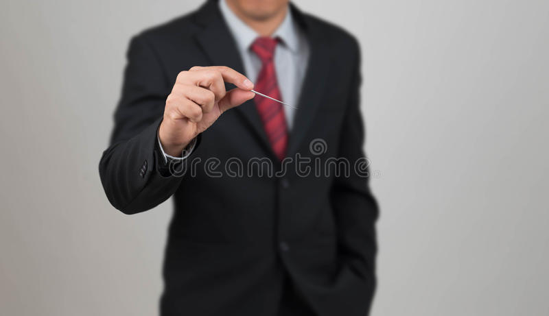 Man hold needle. Man hold a needle gesture stab something stock image