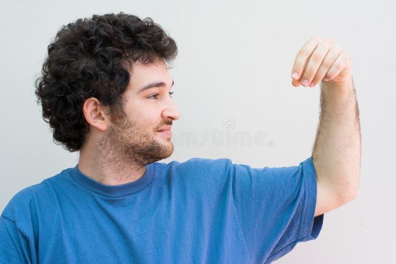 Man holding royalty free stock photos