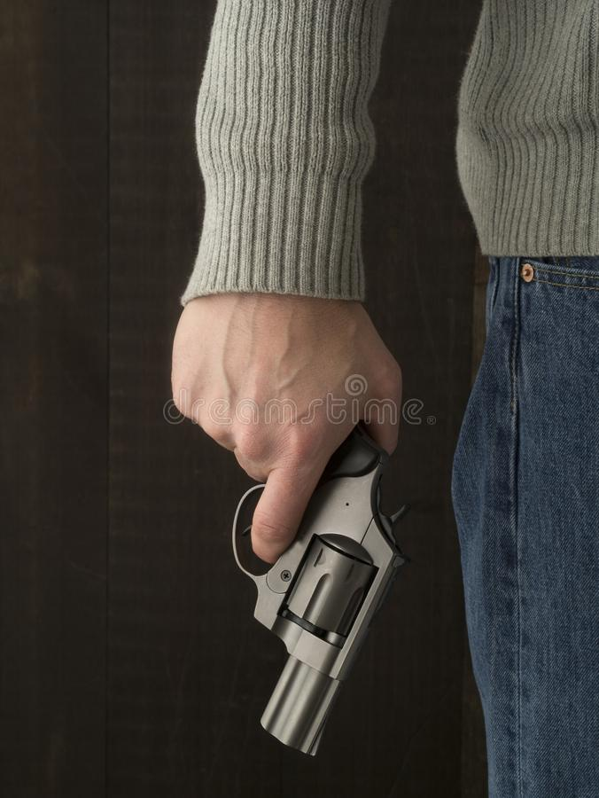 Free Man Holding A Revolver Royalty Free Stock Images - 31578929