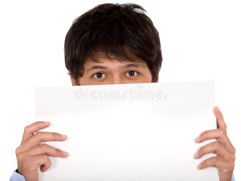 Download Man holding an add stock photo. Image of confident, isolated - 3082734