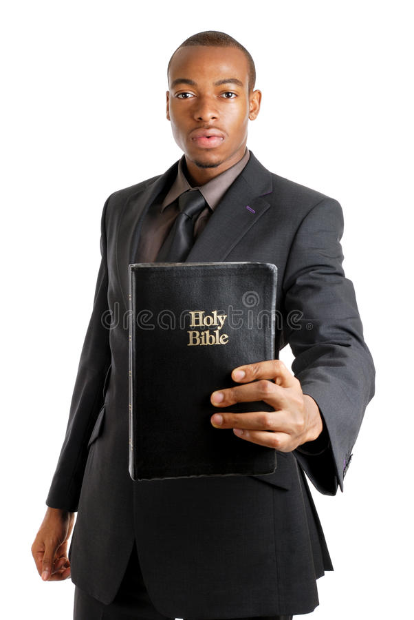 Download Man Holding A Bible Showing Commitment Stock Image - Image: 10468023