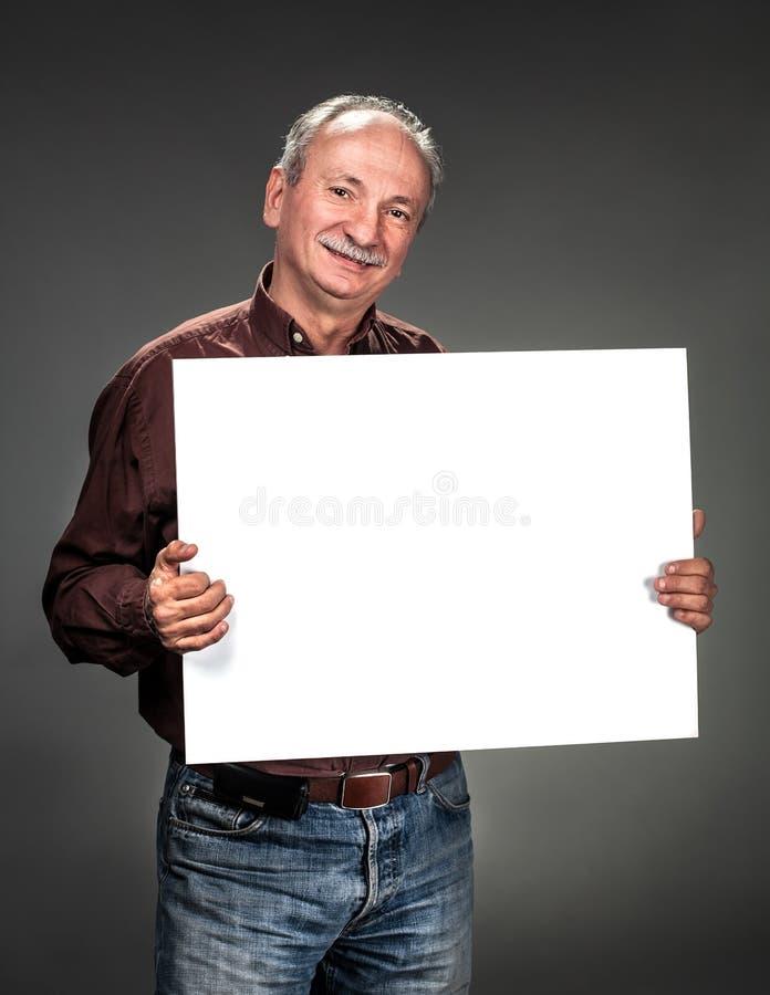 Man Holding Billboard Royalty Free Stock Photo
