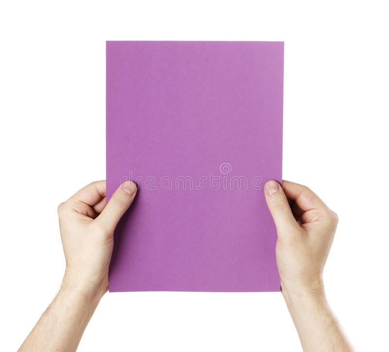 Purple Paper Royalty Free Stock Photos