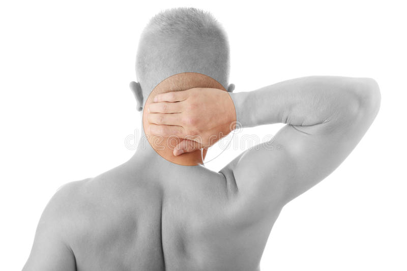 Download Man Holding Body Like He Is Sore Stock Image - Image: 12995829