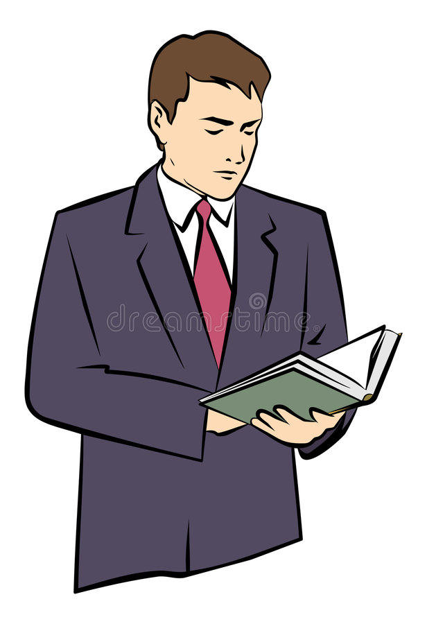 Download A Man Holding A Book In His Hands. JPG And EPS Stock Vector - Illustration of business, chief: 1031370
