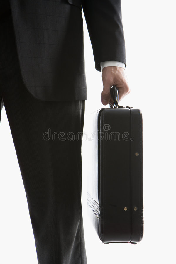 Man Holding Briefcase Royalty Free Stock Image