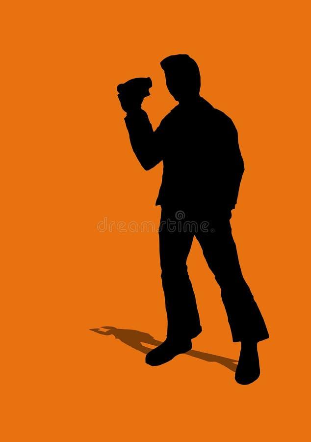 Man Holding Camcorder Stock Photos