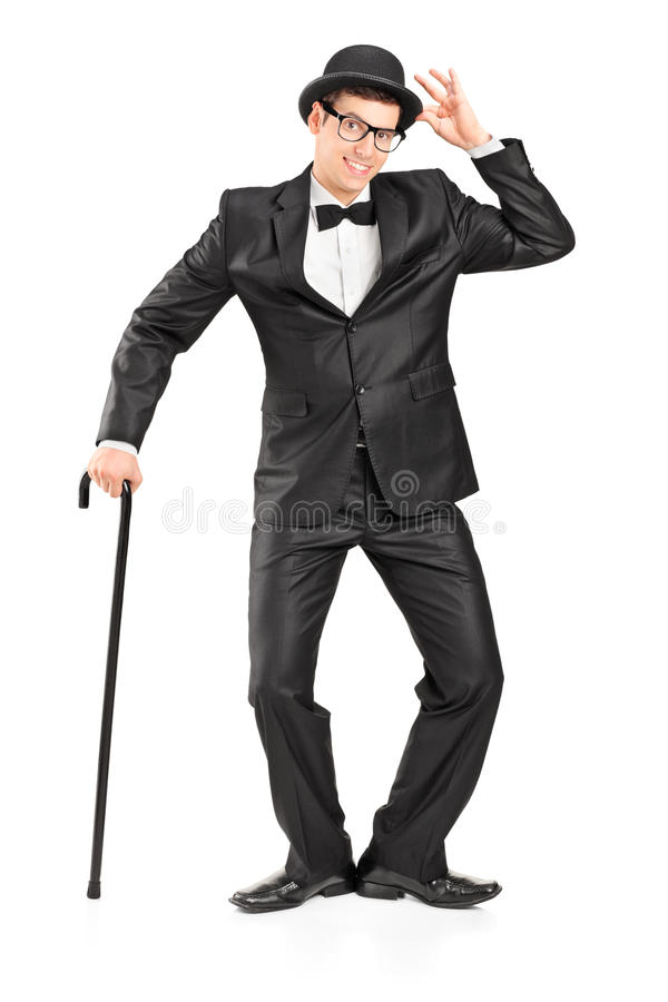 Download Man Holding A Cane And Gesturing Stock Photo - Image: 26849898