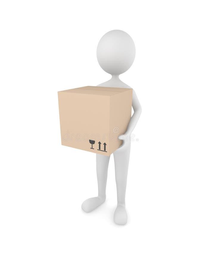 Download Man holding cardboard box stock illustration. Image of mail - 11479739