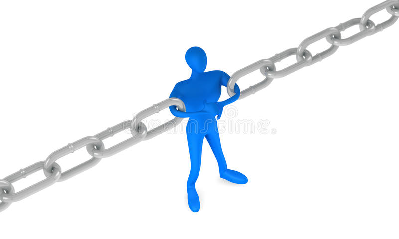 Download Man Holding A Chain Together Royalty Free Stock Photo - Image: 21995495
