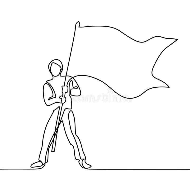 Continuous Line Drawing Stock Vector
