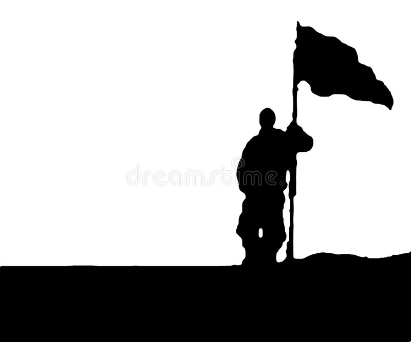 Download Man Holding Flag - Isolated Stock Vector - Illustration: 6959902