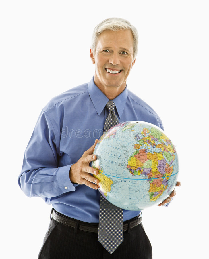 Download Man Holding Globe. Stock Photography - Image: 4245752