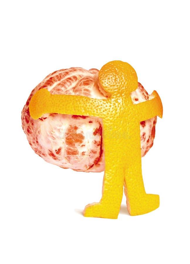 Man holding a grapefruit stock photo