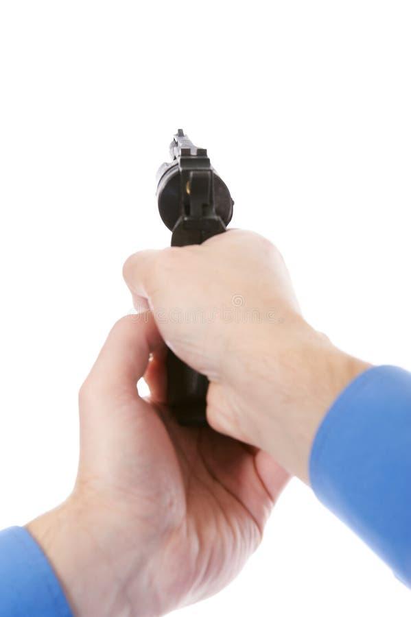 Man Holding A Gun Royalty Free Stock Image